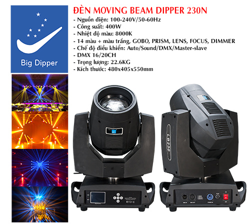 ĐÈN MOVING BEAM DIPPER 230N